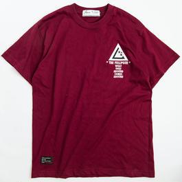 "Full Push  "" SANITY T-shirt "" Burgundy Body."