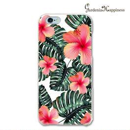 スマホケースAICA-61 リアル南国ハイビスカス  iPhone6Plus/6sPlus、Xperia Z5 Premium(SO-03H)、ARROWS NX(F-02H)