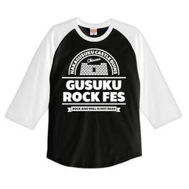 GUSUKU ROCK FES RAGLAN TEE / WHITE x BLACK