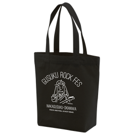 GUSUKU ROCK FES CANVAS TOTE BAG / BLACK