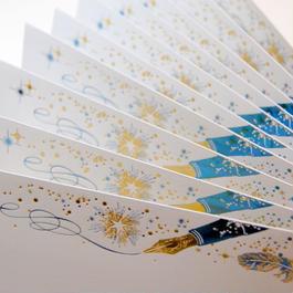 【 4刷目 】【 コスモテックブログ開設 12周年記念 製品 】 ― 箔封筒 『 白夜飛行 』 - 極光 -