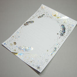 【 5刷目 】【 コスモテックブログ開設 12周年記念 製品 】 ― 箔便箋 『 白夜飛行 』