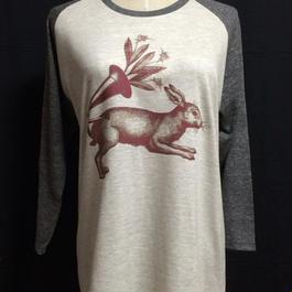 機械仕掛けの花咲ウサギ type2〈ユニセックスラグランスリーヴ七分袖〉