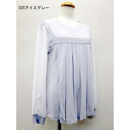 バンブーレーヨン胸レースプルオーバー(4色)TSC-9518