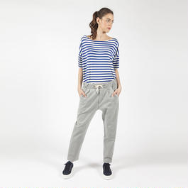 【SALE 】Comfy denim pants with waist coulisse HP7109