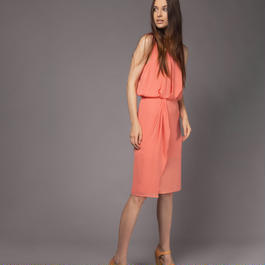 【SALE】Lateral drapery dress HD7304
