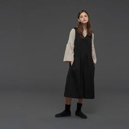 【SALE 】Wide V neckline long jumpsuit HJS10102