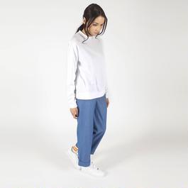 【SALE 】Light and semi-shiny fabric sweatshirt HT7111