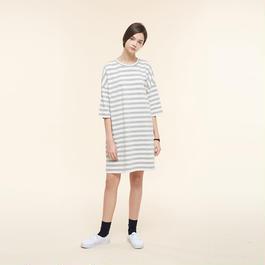 【SALE】Striped maxi t-shirt  HT9119