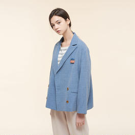 【SALE】Double-brest cotton blazer HJ9102