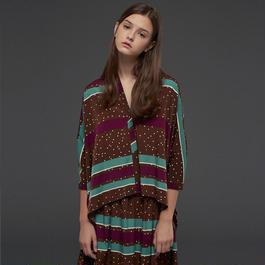 【SALE 】Wide printed blouse  HB10109
