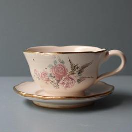 天使と薔薇のカップ&ソーサー
