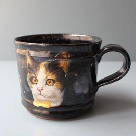 宇宙猫マグカップ シャム猫