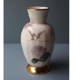天使と紫陽花の花器