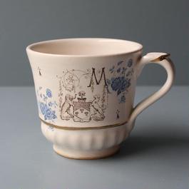ブルーフラワー紋章マグカップ