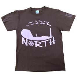 SHINE north Tシャツ *ダークブラウン*