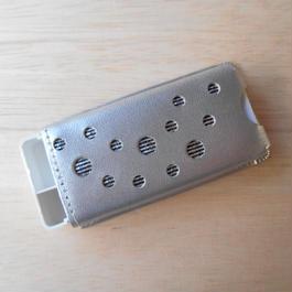 本革製 フリスクケース(旧サイズ) シルバー ホログラム
