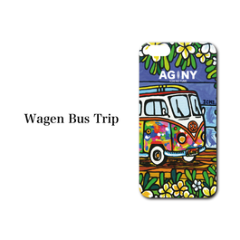 "iPhone 5/5S/SE/6/6S/7 対応   ハードケースカバー ""Wagen Bus Trip"""