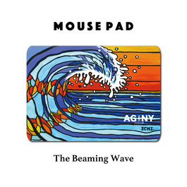 Mouse Pad マウスパッド 〝The Beaming Wave〟