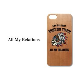 "iPhone5/5S/SE/6/6S対応 WOODカバー ""All My Relations"""