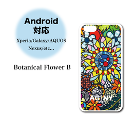 "Andoroid対応【Xperia/Galaxy/AQUOS/Nexus/etc...】ハードケースカバー ""Botanical Flower B"""
