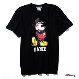 ダンスミッキーマウスTシャツ(黒)