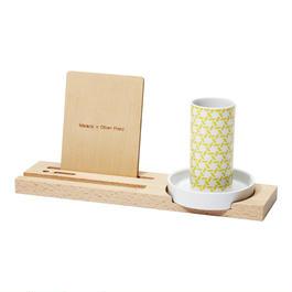 kagome penholder tray / yellow