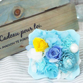 Summer gift/ プリザーブド アレンジメント スタンド 【aqua blue】