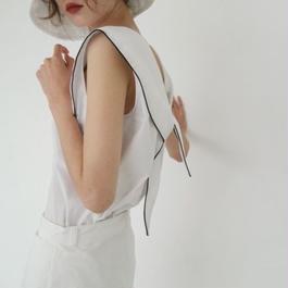 2color-sailor sleeveless top
