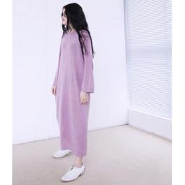 slim loose long knit dress
