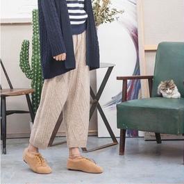 Fluffy knit pants