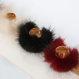 mink fur ring