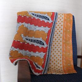 Small Kantha Blanket スモールカンタブランケット(オレンジ)