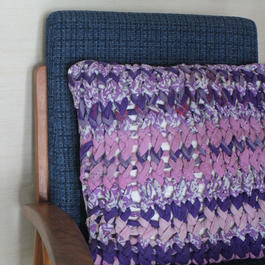Chunky Knit Pillow Case チャンキーニットクッションカバー(ピンクパープル系)