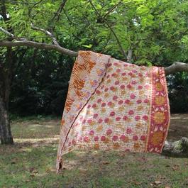 Small Kantha Blanket スモールカンタブランケット(ブラウン系)