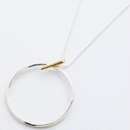 pin hoop necklace