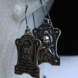 テレジア・家紋型フープピアス1個/真鍮ブラス&チタン製