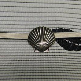 真鍮製 シェル型帯留め 着物や浴衣の帯どめ飾りに