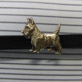 真鍮製 犬型帯留め 着物や浴衣の帯どめ飾りに