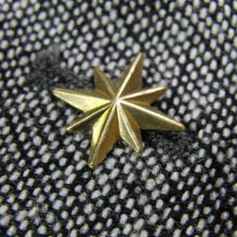 真鍮ブラス製 ミニスパークスター型ピンズブローチ ジャケットやハットの飾りとして