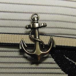 真鍮製 いかり型帯留め 着物や浴衣の帯どめ飾りに