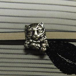 真鍮製 ネコ型3帯留め 着物や浴衣の帯どめ飾りに