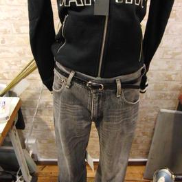 W92~80 大・小サイズ製作可 ブラック サイズ調整無料 牛本革細レザーベルト
