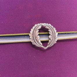 真鍮製 2枚葉の帯留め 着物や浴衣の帯どめ飾りに