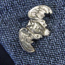 真鍮ブラス製 ふくろう型ピンズブローチ ジャケットやハットの飾りに