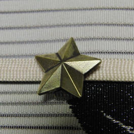 真鍮製 星・スター型帯留め 着物や浴衣の帯どめ飾りに