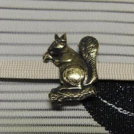 真鍮製 リス型帯留め 着物や浴衣の帯どめ飾りに