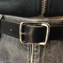サイズ調整無料・各種サイズ可 ブラック 牛本革3cm幅レザーベルト