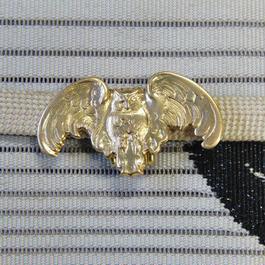 真鍮製 梟(ふくろう)型帯留め 着物や浴衣に