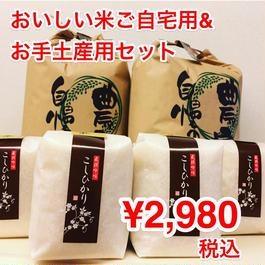 【おいしい お米の詰め合わせ】 選べるコシヒカリ 2kg*2個&2合*4個★500円割引クーポン付♪低農薬の安心をおすそ分け